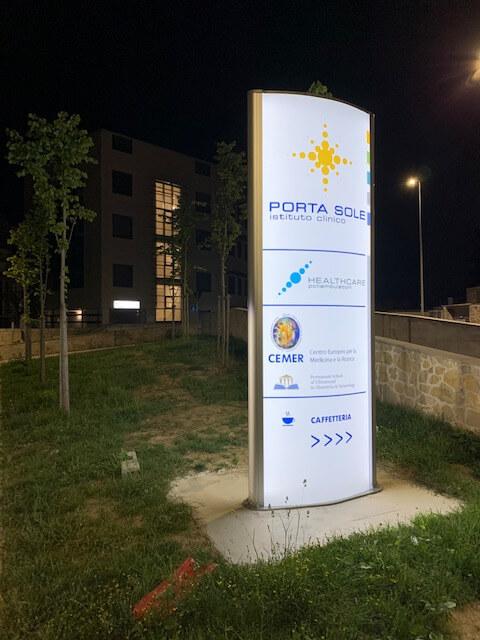 Allestimenti Grafox - Insegne & Outdoor - Istituto Clinico Porta Sole - Perugia