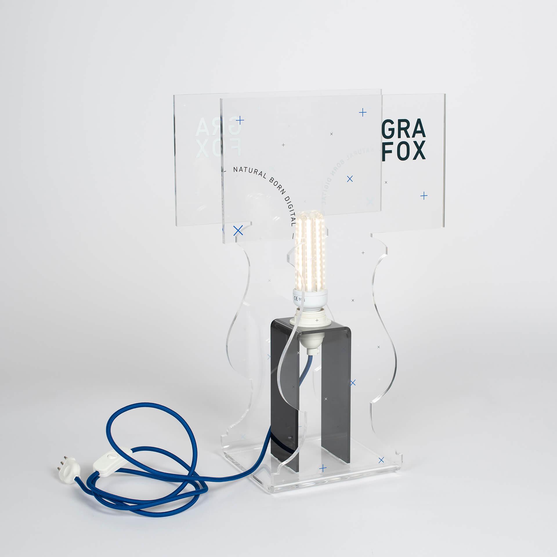 GRAFOX - Lampada in plexiglass