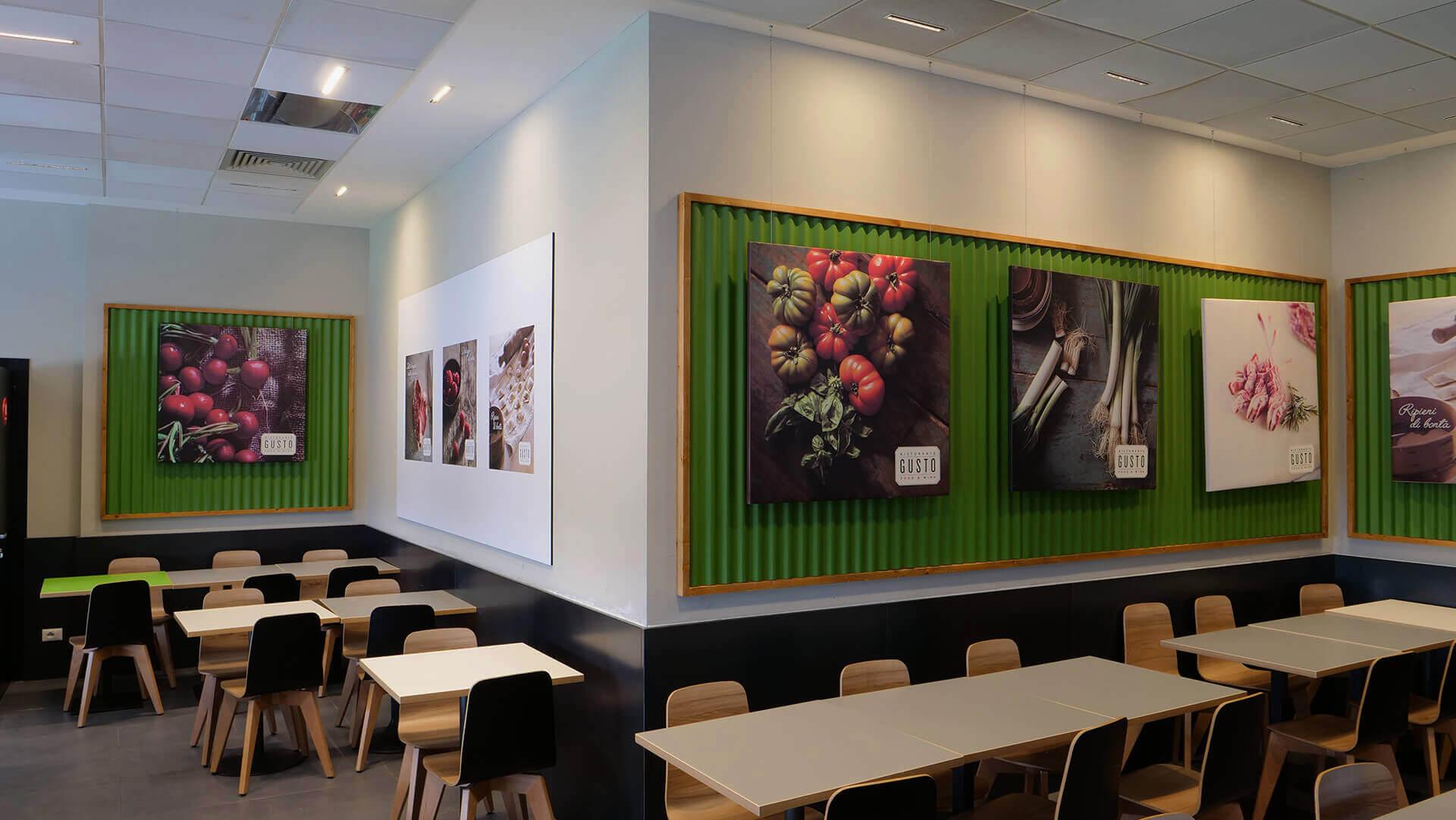 Allestimenti Grafox - Shop & Food - GUSTO RESTAURANT - ITALIA