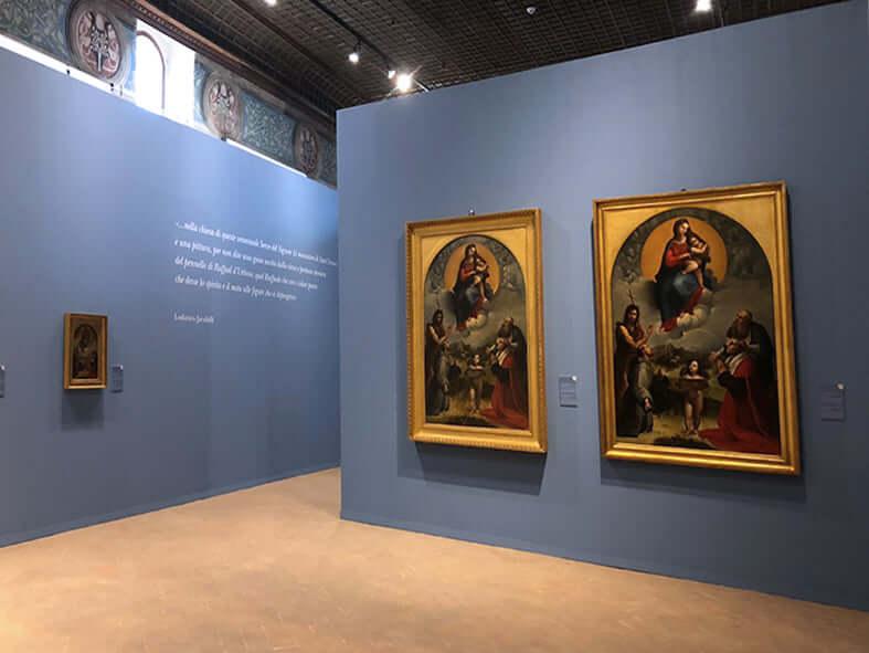 Allestimenti Grafox - Musei e Mostre - Mostra Raffaello e la Madonna di Foligno - Palazzo Trinci Foligno - Perugia