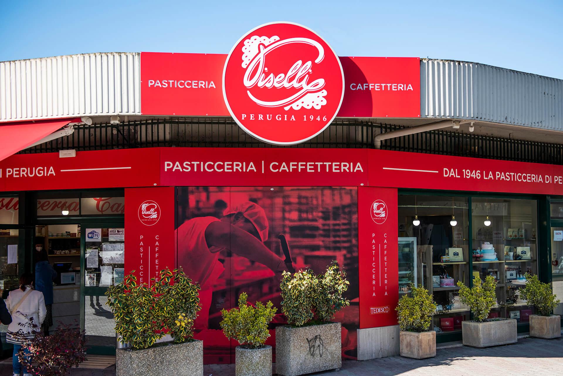 Allestimenti Grafox - Insegne&Outdoor - Piselli Pasticceria - Perugia