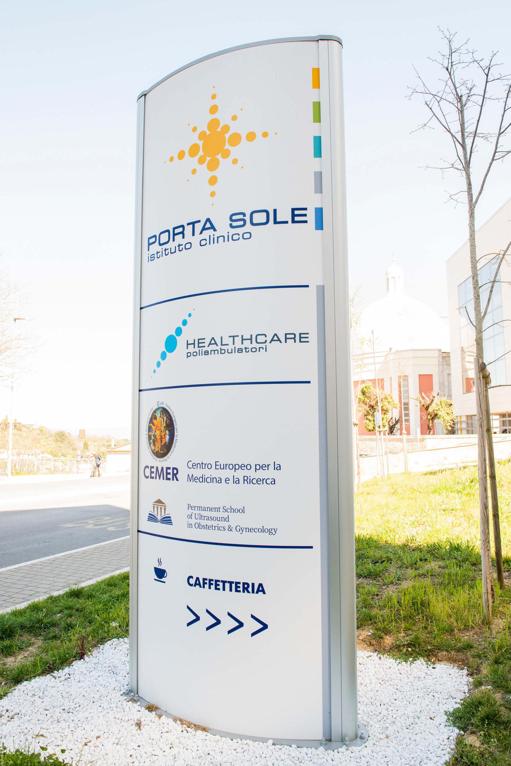 Allestimenti Grafox - Insegne&Outdoor - Istituto Clinico Porta Sole - Perugia